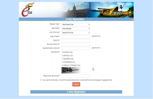 Paso 1 para solicitar visado para la India