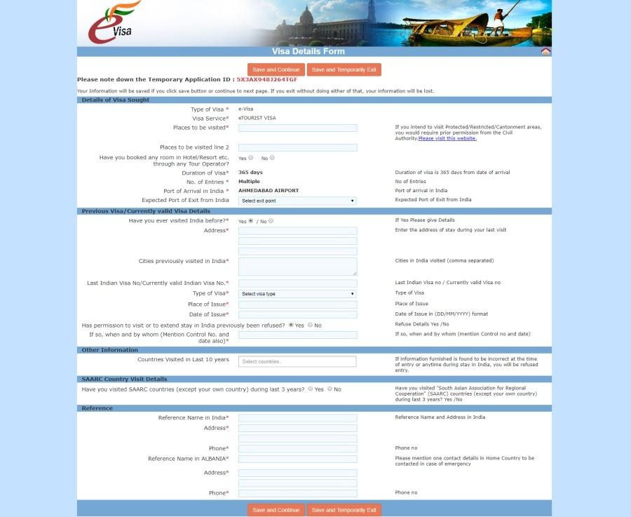Paso 5 de la guía para solicitar el visado para India