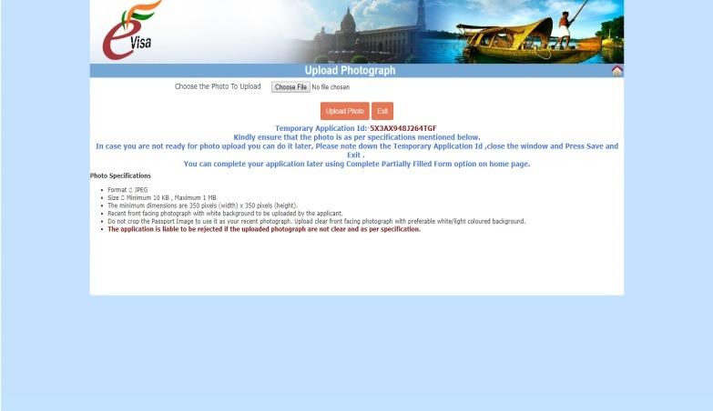 Paso 7 de la guía de visado